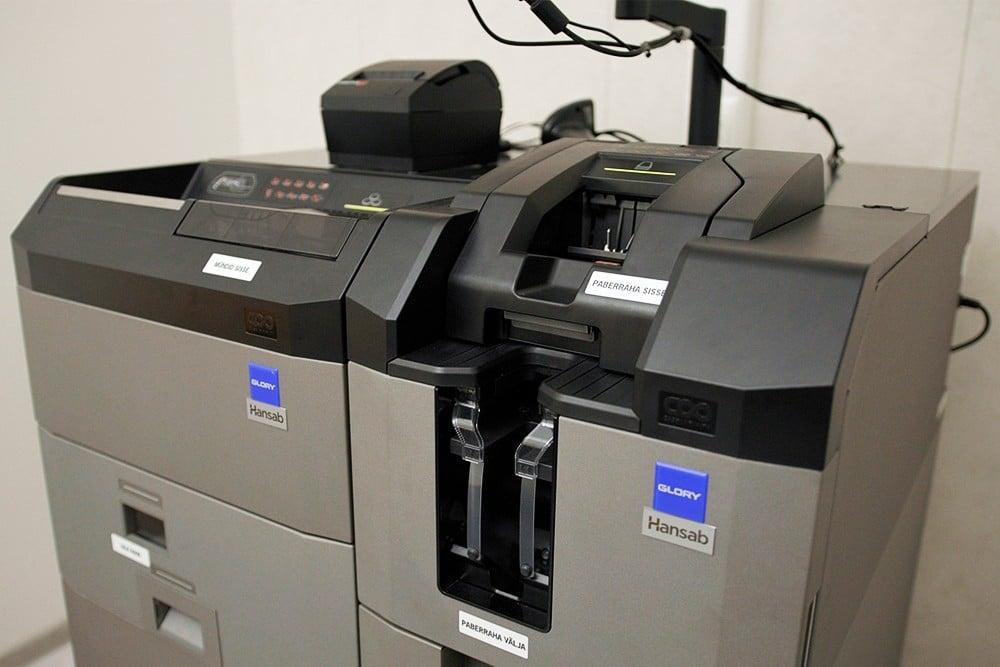 Cash handling solution in The North Estonia Medical Centre