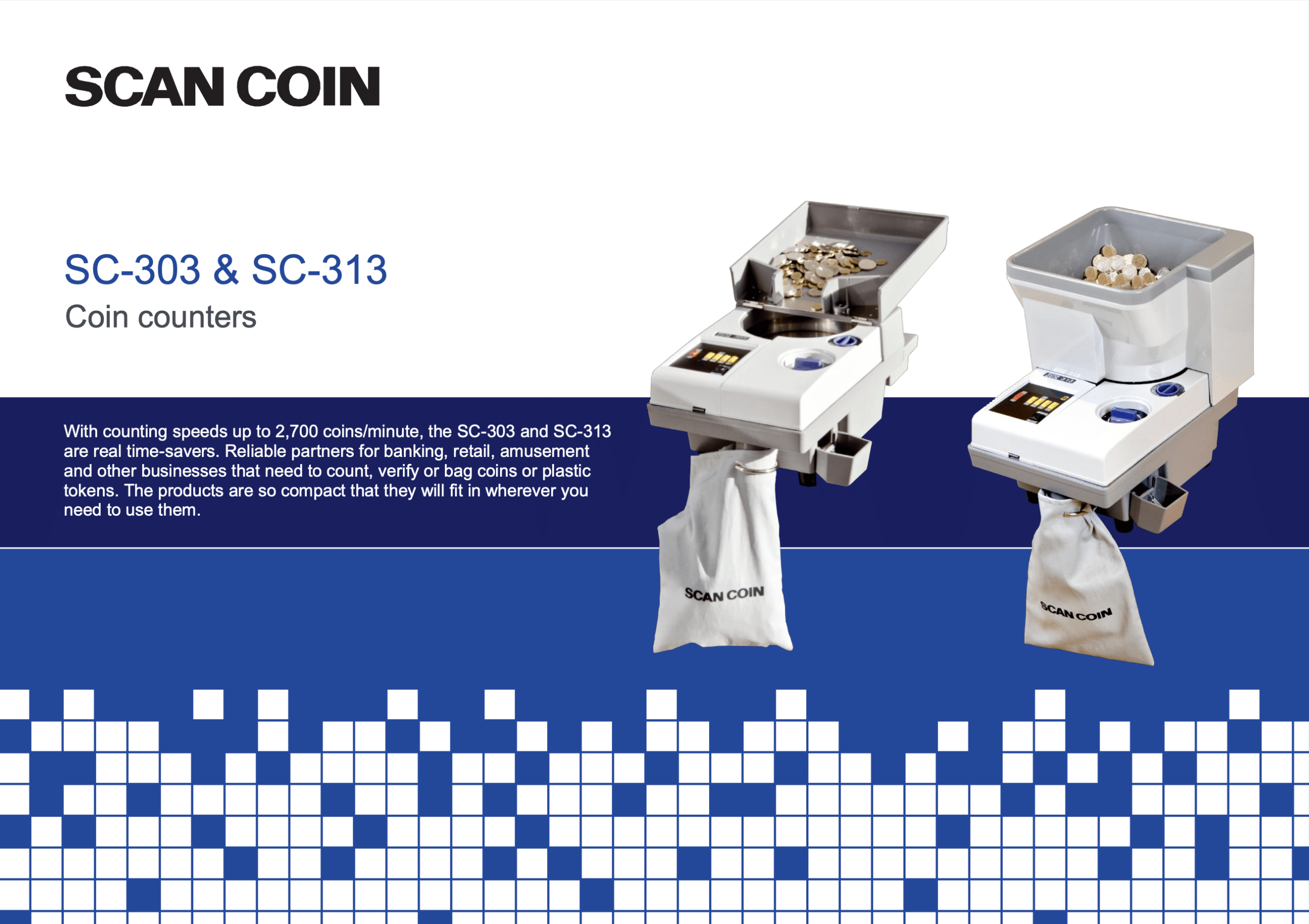 Counting coins with SCAN COIN